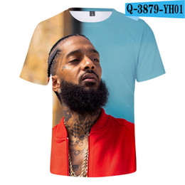 Music Man T Shirt Australia - Nipsey Hussle Music 3D Printed T Shirts Boys Spring Tops Summer Tees Men Women Short Sleeve Casual T Shirts 2XS-4XL