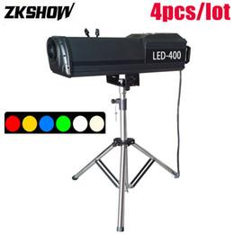 Ingrosso 80% di Sconto LED Segui Spot Light zoom Manuale 150/200 / 300 / 400W 6 colori della luce della fase di effetto Luces DJ Disco Show equipaggiamento con Flightcase