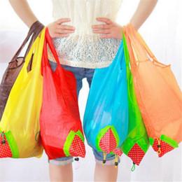 $enCountryForm.capitalKeyWord Australia - Eco Storage Handbag Strawberry Foldable Shopping Bags Reusable Folding Grocery Nylon Bag Large Capacity Home Tote Pouch