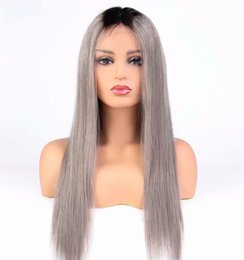 $enCountryForm.capitalKeyWord Australia - Fashion best quality new arrival unprocessed virgin remy human hair long grey silky straight full lace wig cheap for women
