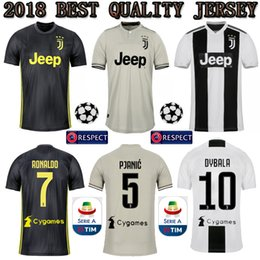 3f7441997 Serie A TOP RONALDO 2018 2019 JUVENTUS Soccer Jerseys 18 19 JUVE CR7 Home  Away Third DYBALA HIGUAIN Football Shirt CRISTIANO Uniform Team