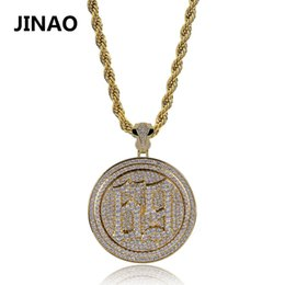 Necklaces Pendants Australia - New Fashion 69 Saw Necklace Cubic Zircon Saw Horror Movie Theme Hiphop Pendant Necklace Stainless Steel Chain Iced Out Rotatable J190625