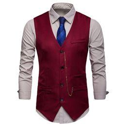 $enCountryForm.capitalKeyWord Australia - NIBESSER Multi Color Men's Business Casual Slim Vests Fashion Men Solid Single Buttons Vests Spring Autumn Male Suit For Men