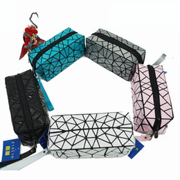 Wholesale Wrist Zipper Wallet Australia - Rhinestone Wallet Geometric Package Shoulder Portable Wrist Strap Purses and Handbags Geometric Folding Fashion Cosmetic Bag Pen Holder