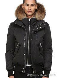 Men wool coat hood online shopping - Men s Down jacket WINTER MAC DIX F4 A103 Down Parkas Brand Real Raccoon Fur Collar White Duck Outerwear Coats WITH FUR HOOD