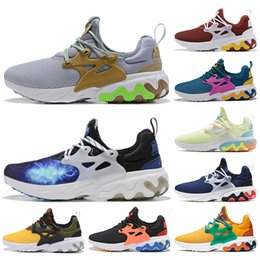 shoes mens presto Australia - Beams X React Presto Dharma Running Shoes Witness Protection Barely Volt Rabid Panda Triple Black Red React Shoes Mens Trainers Sneakers