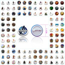 $enCountryForm.capitalKeyWord Australia - IY Apparel Sewing Fabric Badges 18pcs lot Avenger Trolls Super Hero Cartoon Round 30MM Badges Kid Gift Round Brooch Bag Clothes Accessor...