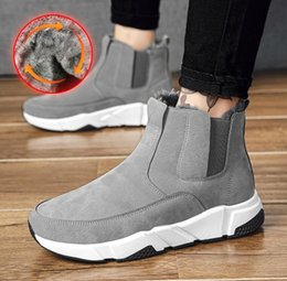 mens winter warm snow boot NZ - Hot Sale Designer mens Winter Martin Boots Warm Men Winter Shoes ankle boot for Men sneakers for men's fur Warm Snow Boots Male Footwear