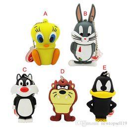 $enCountryForm.capitalKeyWord Australia - High quality Cute usb flash drive 32GB pendrive 16GB 8GB 4GB bugs bunny Daffy duck Cartoon Hot Sale animal pen drive usb 2.0