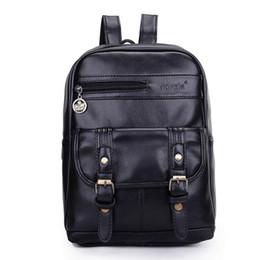 b0f46dc6b75 Hot Fashion Women Pu Leather Backpack Negro y marrón Vintage Mochila  Mochilas escolares para adolescentes Marrón   negro   azul   rojo Chicas