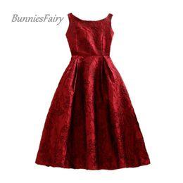 ea592f9ae98699 Bunniesfairy Spring New Royal Vintage Audrey Hepburn Style Jacquard Floral  Print Robe High Waist Women Vest Dress Plus Size Q190508