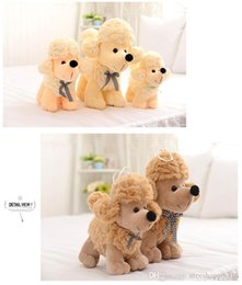 hot doll dogs NZ - T483 HOT dog Plush Doll Toys Cute CANDY colors dogs Stuffed Toys Poodle Stuffed Animals Doll Children Kids Gift