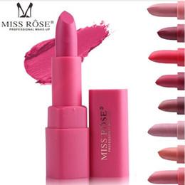 $enCountryForm.capitalKeyWord NZ - 2018 New Rose Brand Makeup Pigments Nude Color Cosmetics Matte Miss Lipstick Waterproof Sexy Moisturizer Velvet Lip Stick