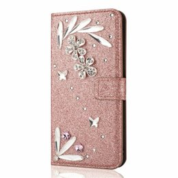 $enCountryForm.capitalKeyWord UK - Luxury Feather Bling Wallet case Cover for Apple iPhone XS Max XR 8 7 6 5S Plus Flip Kickstand Bumper for Galaxy S9 S9+ S8 S8+ Women Girls