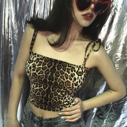 57ae73078b Lace Camisoles For Women Australia - Lace Up Tops Summer Camisole Women Tops  Leopard Print Sexy