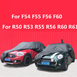 car protections Canada - Black Waterproof Full Car Cover Sun Dust Rain Resistant Protection for Mini Cooper F54 F55 F56 F60 R50 R53 R55 R56 R60 R61