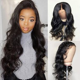 More Body Hair Australia - Body Wave Wig Lace Front Human Hair Wigs for Black Women Brazilian Remy Full Ends PrePlucked with Baby Hair