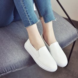 spring fall canvas shoes Australia - Spring And Fall Canvas Shoes Comfortable Women Breathable Soft Bottom Work Solid Color Simple Casual Falt Shoes