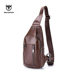 Genuine Leather Man Bag Small Australia - BULLCAPTAIN Small Brand casual messenger bags MEN Shoulder BAGS Fashion GENUINE Leather MALE Crossbody Bag men chest bag103