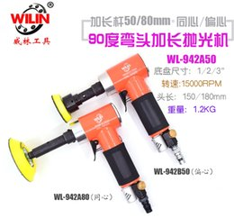 Pneumatic rod online shopping - Wilin Degree Elbow Pneumatic Grinder Right Angle Air Tools extend Rod Sanders Blasting Grinding pad Inch Inch