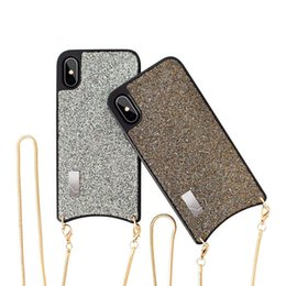 Phone Chain For Iphone Australia - Glitter Unique Functional Crossbody Phone Protective Case With strap Long Chain For iphone 6 8 7 6sPlus X XS MAX XR Cover Back