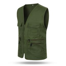 $enCountryForm.capitalKeyWord Australia - Men Women Waistcoat Multi-pockets Zipper Loose Casual Vest for Outdoor TH36