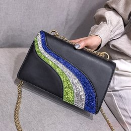 $enCountryForm.capitalKeyWord Australia - New Fashion Women Leather Sequin Handbag High Quality Designer Crossbody Bag Chain Shoulder Bags Purse Hot Sell Ladies Messenger Bags Wallet