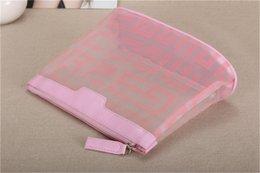 Discount best luxury handbags - Luxury Cosmetic Bag Summer Special Net Yarn Cosmetic Bag Transparent Handbag Zipper Large Capacity Best Selling Luxury C