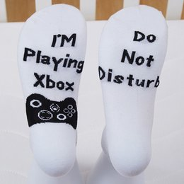 Best Christmas Gifts For Men Australia - Funny Crew Cotton Socks Do Not Disturb I'm Playing Xbox Men Women Socks Best Christmas Gift For Fornite Game Players Lovers