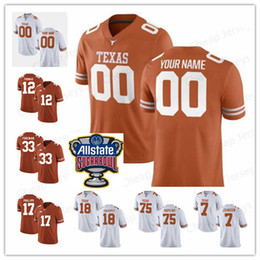 Discount reds jersey numbers - Custom Texas Longhorns WILLIAMS 34 Shane Buechele 7 any name any number Mens Youth College Football stitched Jerseys