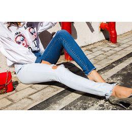 $enCountryForm.capitalKeyWord Australia - 2019 Fashion Color Patch Jeans Women Ripped Jeans For Women High Waist Plus Size 3XL Skinny Pencil Pants Female Trousers