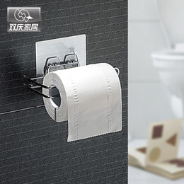 $enCountryForm.capitalKeyWord Australia - Wall Sticker Type Toilet Paper Holder Metal Roll Paper Holder Storage Towel Racks Kitchen Shelf Bathroom