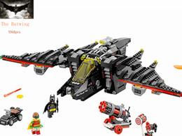 Knights Blocks Australia - Legoing Batman The Dark Knight Batwing Fighter Set 1068pcs Blocks Blocks Toy For Children Batman Legoing Super Heroes