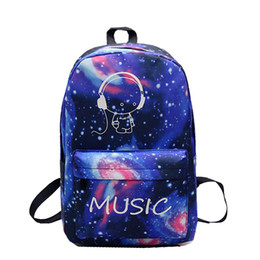 d8f4b8765f Night Light Cool Backpack Music Boy Backpacks Luminous School Bags For Teenager  Girls Boys Book Bag Starry Sky Backpack 591