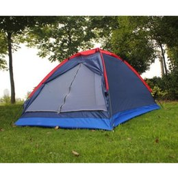 Camouflage Pole Australia - 2 People Outdoor Travel Camping Tent Beach Kit Fishing Tent with Carry Bag for Hiking Traveling Fiberglass Pole Random Color