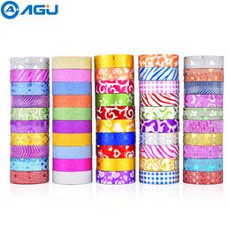 $enCountryForm.capitalKeyWord Australia - Aagu 50pcs Glitter Washi Tape Set 10 Soild Colors And 40 Rolls Random Colors Adhesive Tape Decorative Paper Tape For Diy Making T8190627