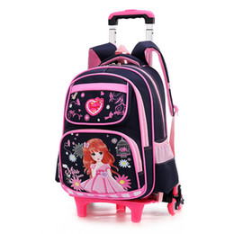 Children sChool trolley bags online shopping - Children School Bag With Wheels climb Stairs Laptop Backpack For Girl Business Travel Trolley Schoolbag Luggage Book Bags Girls Wheel