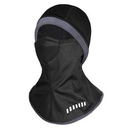 Head Face Mask Australia - Winter Cycling cap Face Mask Cap Ski Bike Mask Face fleece lycra Snowboard Shield Hat Cold Head wear Water-resistant skiing Face Mask