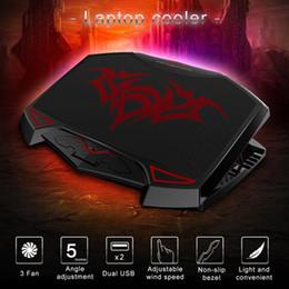 $enCountryForm.capitalKeyWord NZ - Notebook Radiator Multi-angle Adjustable Base USB 74.35 CFM DC 5V 630g 3 Laptop Cooler 0.75W 1000 + 10% RPM