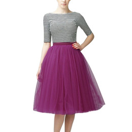 Adult knee length tutu skirt online shopping - Multicolor Womens Skirts Fashion Female Skirts Vestidos High Quality Pleated Gauze Knee Length Adult Tutu Dancing Skirt