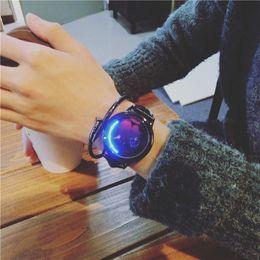 Space Watch Australia - Luminous for Leather Quartz Wristwatch Starry Watch Sky Wrist Unisex Space Women Men