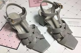 dhl sandals 2019 - 5A Women 6709210 7cm and 9cm Heel Tribute Sandals,Leather Sole,Size 34-42,DHL Free Shipping cheap dhl sandals