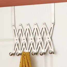 back clothing Australia - Home Storage Rack And Holder Clothes Organizer 6-Hook Flexible Back Door Hanger Rack Bathroom Kitchen Organizer Hanger Hooks