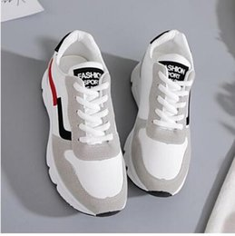 elastic plastic spring NZ - 2019 New Women Sneakers Spring Vulcanized Shoes Ladies Casual Shoes lightweigh Breathable Flat Shoes Tenis Feminino