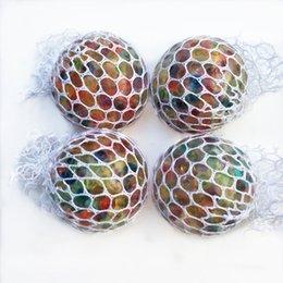 Wholesale Big Plastic Balls Australia - Novelty Anti Stress Mesh Grape Ball 6CM Latex Colorful Anti Stress Relief Ball Stress Autism Mood Relief Hand Wrist Squeeze Toy For Big Kid