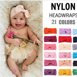 $enCountryForm.capitalKeyWord Australia - INS European and American baby candy colors Bow headband baby girl elegant hair bows accessories designer headband FJ360