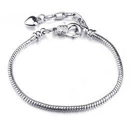 $enCountryForm.capitalKeyWord Australia - Free Shipping Wholesale silver bracelet, 925 fashion silver plated jewelry 3mm Snake Bone Bracelet Jewelry Accessories