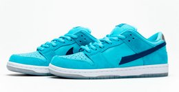 air sports shoes blue green NZ - Ben Jerrs x SB Dunk Low Pro Blue Fury running shoes Pink blue and green men women best Athletic Skateboarding sports Trainers