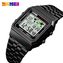$enCountryForm.capitalKeyWord Australia - SKMEI Top Luxury Fashion Sport Watch Men Alarm Clock 3Bar Waterproof Stainless Steel Strap Digital Watches reloj hombre 1338