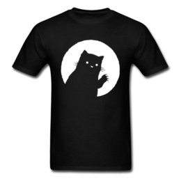 meow shirt NZ - Meow Kitten Vibes Panic At The Disco Tops Shirts Mother Day Round Neck Cotton Men's Top T-shirts ing Black Cat T-Shirt Graphic